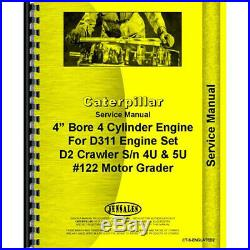 Cat Caterpillar D2 Engine Service Manual Book Reference D311 Dozer Tractor