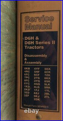 Cat Caterpillar D6h & D6h Series I & II Tractor Dozer Repair Service Manual