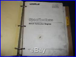 Cat Caterpillar D9h Tractor Dozer Service Shop Repair Manual Book S/n 90v1-up