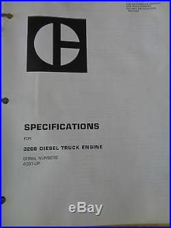 Caterpillar 3208 Diesel Truck Engine Service Manual 40S1-UP Printed 9/75