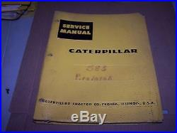 Caterpillar 583 Pipelayer Service Manual S/n 16a1 & Up
