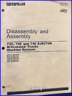 Caterpillar 740 Articulated Truck Service Manual AXM Vol II Disassembly/Assembly