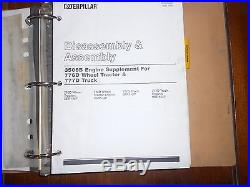 Caterpillar 776d 777d Truck Service Manual Cat Assembly Disassembly
