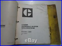 Caterpillar 992 Wheel Loader Disassembly Assembly Power Train Service Manual SET