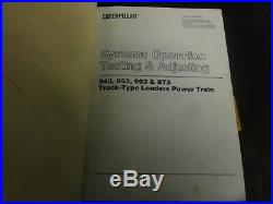 Caterpillar CAT 963 Track Type Loader Service Manual