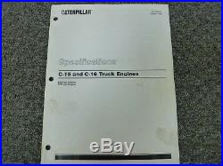 Caterpillar Cat C15 & C16 Truck Engine Shop Service Specifications Manual