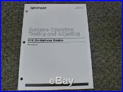 Caterpillar Cat C15 On-Highway Engine Sys Op Testing & Adjusting Service Manual