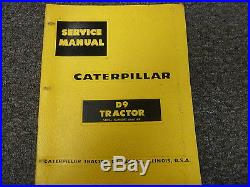 Caterpillar Cat D9 Tractor Crawler Dozer Shop Service Repair Manual S/N 66A1-Up