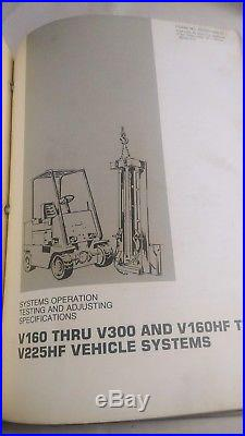Caterpillar Cat Lift Truck V160 Thru V300 Forklift Service Manual