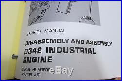 Caterpillar D342 Industrial & Marine Engines Service Manual