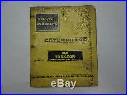 Caterpillar D4 Tractor Service Repair Shop Manual BINDER STAINED WATER DAMAGED