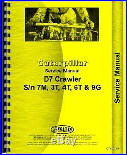 Caterpillar D7 Crawler Service Manual (CT-S-D7 7M)