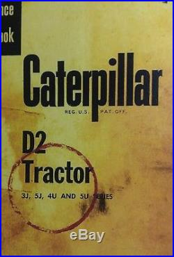 Caterpillar Diesel D2 Tractor Chassis Service Manual 3J 5J 4U 5U Crawler CAT