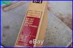 Caterpillar EP15T EP18T EP20T Electric Forklift repair service manual owner book
