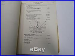 Caterpillar Track Type Loaders Tractors Specifications from Service Manual SET