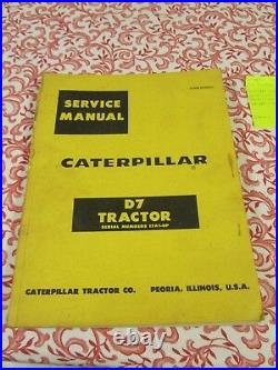 Caterpillar Tractor Service Manual D7 Tractor 17A1-UP