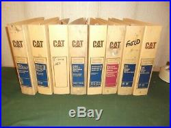 Lot Of 8 Caterpillar Cat Service Shop Repair Workshop Manual Empty Binders