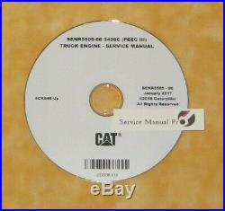 SENR5505 CAT Caterpillar 3406C PEEC III 3 Truck Engine Service Manual CD 4CK