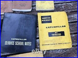 Vintage CAT D8 D7 Tractor Service Manual Lot Service School Manual And Magazine
